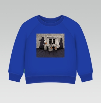 Мумики на кружке - Cвитшот Детский Синий 320гр, стандарт
