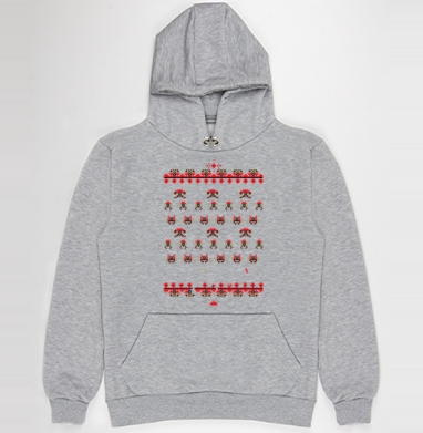 Space invaders a la rus, Толстовка Муж. меланж 300гр без начеса