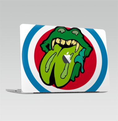 2016-2018 – Macbook Pro Touch Bar (с яблоком ), Tongue  and  Lips Zombie