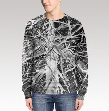 Свитшот мужской 3D - Сухое древо