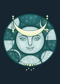 Луна луноликая - лицо - Коллекции