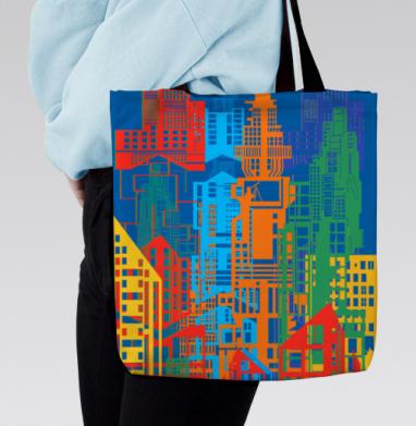 Сумка с полной запечаткой - Цветной город