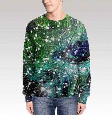 Обитаемый космос. Созвездия., Свитшот мужской 3D