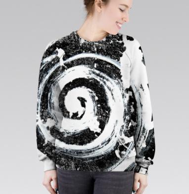 Cвитшот женский 3D - Спираль, графика