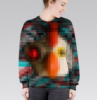 Cвитшот женский 3D - Все роботы прекрасны два