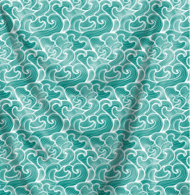Волны Зеленого моря - Печать на ткани