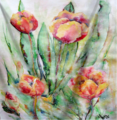 Тюльпаны. Жаркий полдень - пейзаж, Популярные