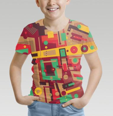 Футболка детская (полная запечатка), белый - Интернет магазин футболок №1 в Москве