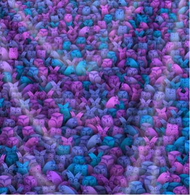 Загадочные совы - Печать на текстиле, новинки
