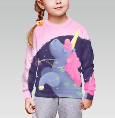 Ежевичный Единорог, Cвитшот детский без капюшона (полная запечатка)