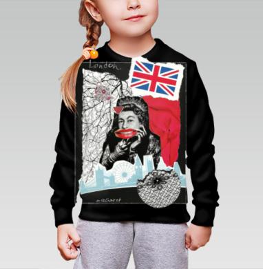 LONDONQUEEN, Cвитшот детский без капюшона (полная запечатка)