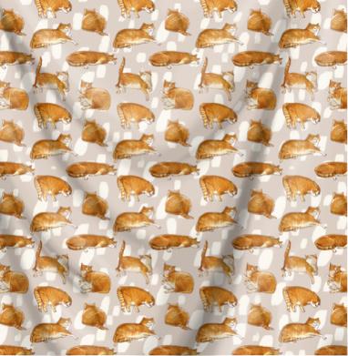 Паттерн с рыжими котами - мороженое, Популярные