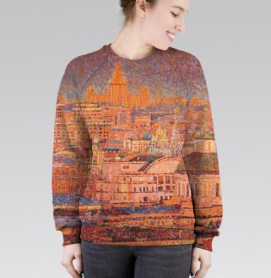 Cвитшот женский 3D - Храм Воскресения Христова в Кадашах