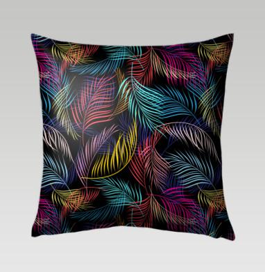 Разноцветные листья пальмы - Подушки с принтом
