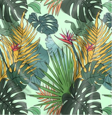 Листья цветы тропики - мороженое, Популярные
