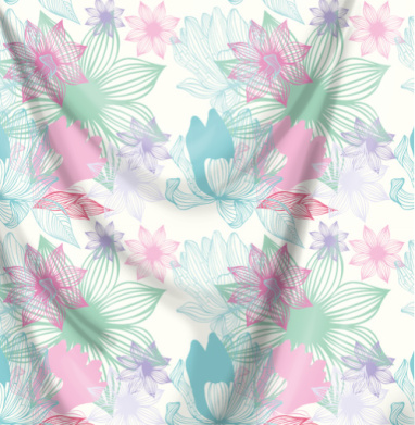 Цветочный принт - Печать на ткани