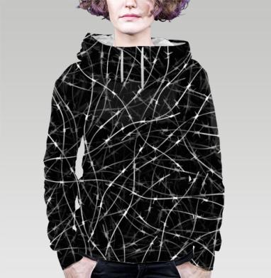 Колючая проволка, Толстовка женская с карманом 3D