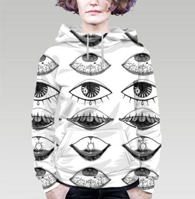 Толстовка женская с карманом 3D - Четыре Глаза