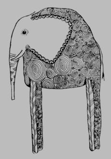 Черно-белый слон - слоны - Коллекции