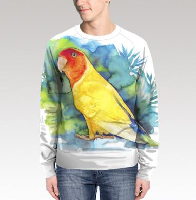 Розовощекий попугайчик, Свитшот мужской 3D