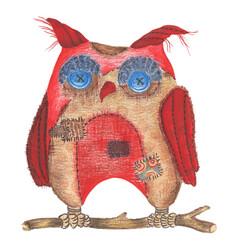 Лоскутная сова - красный - Коллекции