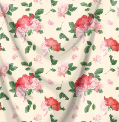 Розовые розы на кремовом фоне - мороженое, Популярные