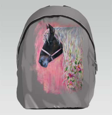 Лошадь с цветами в гриве - Рюкзак