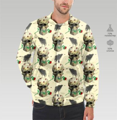 Бомбер мужской 3D - Воронье