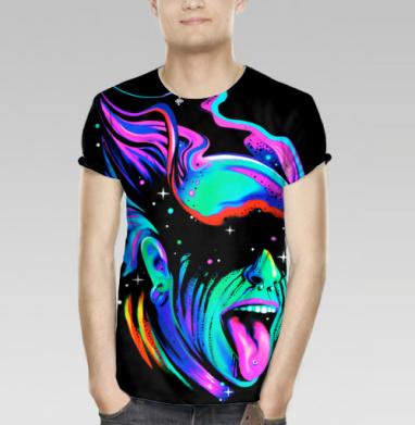 cffa4d7f43b53 Электро галактика - Купить мужскую футболку с 3D принтом, 3д футболки с  рисунком недорого в