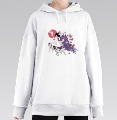 Dogs-guide, Hoodie Mjhigh Long White