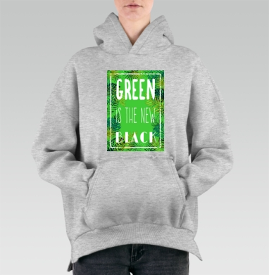 Green is the new black, Hoodie Mjhigh Melang, утепленная